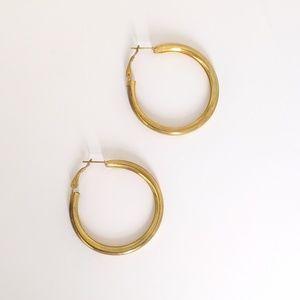 Brass toned Hoop Earrings Nickel Free